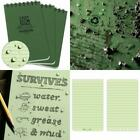 """Rite In The Rain Weatherproof Top-Spiral Notebook, 3"""" X 5"""", Green Cover, Univers"""
