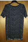Women's Black Dress Decorated With White Hearts Size 16 From George