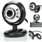 LOT 1-100 Night Vision USB 2.0 6 LED Web cam Camera With Mic For PC Laptop BR