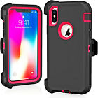 Gift Shockproof Defender Case For Apple iPhone X XS XR Max (Fits Otterbox Clip)