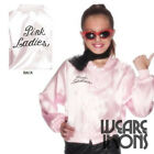 Baby Pink Fun Childs Girls Grease Pink Lady Fancy Dress Jacket