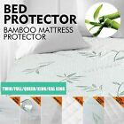 Luxury Mattress Protector Waterproof Bamboo Blends Fitted Sheet Cover Waterproof image