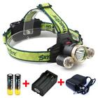 seat Charge+Direct charge+60000LM Rechargeable Headlamp Lamp+Batteries BG