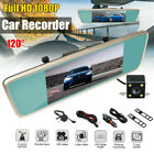 7.0 Inch Touch Screen 1080P Rear View Mirror Monitor Car DVR Camera Recorder