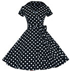 Damen 1950er Jahre Rockabilly Petticoat Hepburn Swing Kleid Party Damenkleid