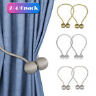 2/4PCS Magnetic Curtain Hooks Rope Buckle Tie Backs Holdbacks Home Decor Garden