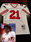 NEW Deion Sanders Atlanta Falcons / Braves ERA Men's White / Road Retro Jersey on eBay