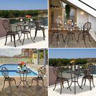 3 Piece Cast Aluminum Garden Patio Outdoor Bistro Tables Chairs Furniture Set Us