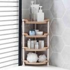 Corner Shower Caddy Bathroom Storage Kitchen Organizer Shower Rack 3/4 Tiers