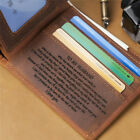 Personalized Engraved Leather Man Wallet Card Holder Best Gift for Husband Son