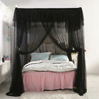 4 Corners Post Insect Bed Canopy Netting Curtain Mosquito Net Frame All Sizes  image