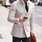 Summer Linen Double Breasted Men's Suit Wide Peaked Lapel Wedding Prom Tuxedos