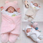 Newborn Infant Baby Cotton Solid Sleep Blanket Boys Girls Warm Wrap Swaddle XI