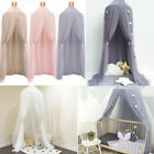 US Summer White Mosquito Net Canopy Fly Insect Protect Single Entry For Double image
