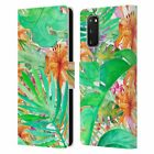 OFFICIAL HAROULITA TROPICAL LEATHER BOOK WALLET CASE FOR SAMSUNG PHONES 1