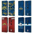 OFFICIAL NFL 2018/19 LOS ANGELES CHARGERS LEATHER BOOK CASE FOR SONY PHONES 1 $19.95 USD on eBay