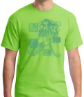 USA Made Bayside T-shirt Sports Hockey Player Action Details Green