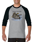 Raglan T-shirt 3/4 Sleeve Sports Hockey Skating Lord Of The Rinks Skate Rink