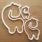 Giraffe Cookie Cutter Dough Biscuit Pastry Stencil Zoo Animal African Mammal