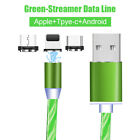 For Type C Android Charge USB Data Luminous Streamer Phone Cable Lead