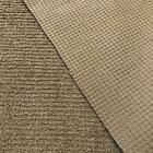 Luxury Cotton Terry Toweling Waffle Pique Fabric Material - LIGHT TAUPE