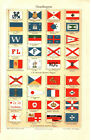 1905. INERNATIONAL SHIPPING COMPANY FLAGS. Antique print
