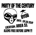 Area 51 T SHIRT Storm Alien Party Funny Meme Beer (More Colors&Sizes Available) image