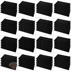 5 Black Compartment Flocked Display Inserts For Jewelry Cases and Trays