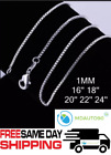 "925 Sterling Silver Box Chain Necklace .925 All Sizes 16"" 18"" 20"" 22"" 24""  image"