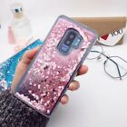Bling Dynamic Liquid Glitter Quicksand Pink Sand Heart Case Cover Summer Gift