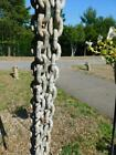 VINTAGE 9 FT GALVANIZED ANCHOR MOORING CHAIN BOAT NAUTICAL HOME