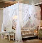 Princess 4 Corner Post Bed Canopy Mosquito Netting with Frame/Post All Sizes New image