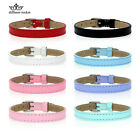 Wholesale 8MM Genuine Leather Bracelet Charm Wristband Fit Slide Letter Charms