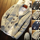 New Style Men Collared Cardigan Winter Sweater Shawl Thick Warm Knitted Jumper