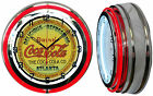 "19"" Drink Coca Cola Coke Atlanta Sign Double Neon Clock Red or Yellow Neon $149.49  on eBay"