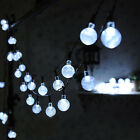 30 LED Solar Powered Garden Party Fairy String Crystal Ball Lights X'mas Ace