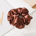 Satin Silk Hair Ties Elastic Scrunchie Ponytail Holder Solid Color Hair Rope #