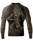 Raven Fightwear Men's Eagle Warrior Rash Guard MMA BJJ Black