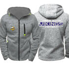 Minnesota Vikings Fan Hoodie Sporty Jacket Full Zip up Coat Autumn Sweater Tops on eBay