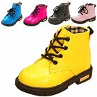Boy Girl Unisex Kid Martin Ankle Snow Boots Miltary Waterproof PU Leather Shoes
