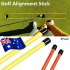 Golf Alignment Rods Training Aid Stick Swing Tour Trainer 5 Colors 2PC Free Post
