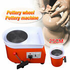 Orange/Blue Electric Pottery Wheel Machine For Ceramic Work Clay Art Craft 110V image