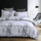 White Marble Duvet Cover Set Bedding Set with Zipper Twin Queen King Size image