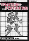Transformers Original G1 1985 Whirl Instructions Booklet For Sale