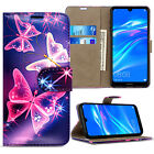 Case For Huawei Y5 Y6 Y7 9 2019 Wallet Leather Cover Flip Stand Phone Protective