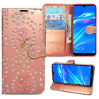For Huawei Y6 Y7 2019 Book Case Leather Wallet Cover Slim Flip Protective Phone