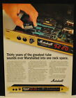 1993 Marchall JMP-1 MIDI Preamp delivers tube guitar amp sound print Ad