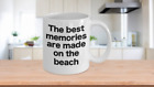 Beach Coffee Cup White Mug Funny Gift for Vacation Life at the Beach