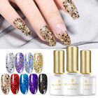 BORN PRETTY Glitter Sequins UV Gel Polish Shining Black Gold Silver Soak off 6ml