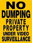 DUMPSTER , DECAL NO DUMPING,GARBAGE,TRASH,Private Property 8.99 metal sign